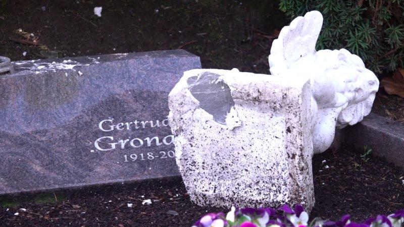 100 Gräber verwüstet (Foto: SAT.1 NRW)
