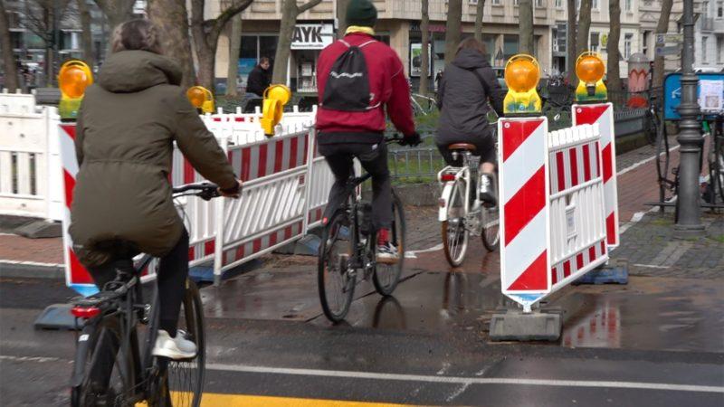 Zu wenig Radwege in NRW (Foto: SAT.1 NRW)