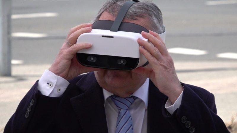 VR-Projekt für mehr Sicherheit im Straßenverkehr (Foto: SAT.1 NRW)