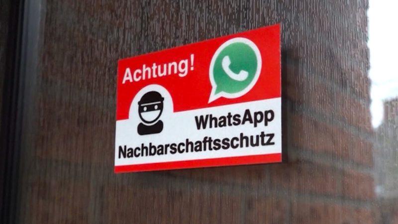WhatsApp-Gruppe schützt vor Einbrechern (Foto: SAT.1 NRW)