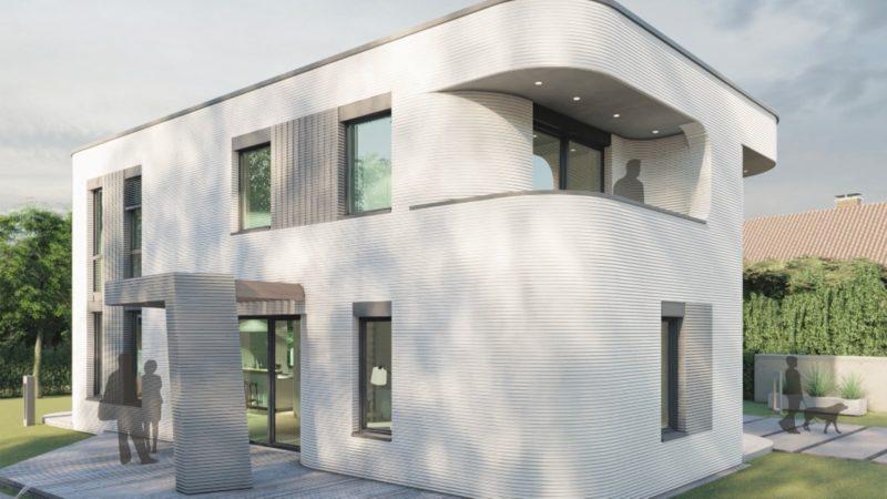 Haus aus dem 3D-Drucker fertig (Foto: SAT.1 NRW)