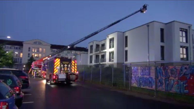 Brand im Altenheim (Foto: SAT.1 NRW)