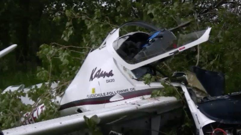 Tödlicher Flugzeugabsturz in Grefrath (Foto: SAT.1 NRW)
