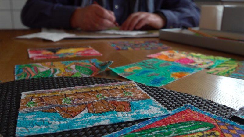 Kunst auf Klopapier (Foto: SAT.1 NRW)