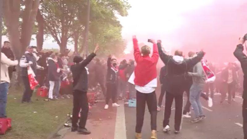 Keine Fans beim FC-Köln Relegationsspiel (Foto: SAT.1 NRW)