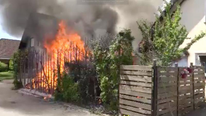 Auf einmal war alles in Flammen (Foto: SAT.1 NRW)