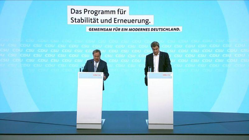 Wahlprogramm 2021: Was will Armin Laschet als Kanzler bewegen? (Foto: SAT.1 NRW)