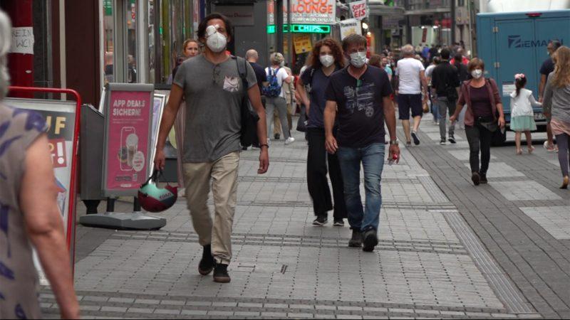 Keine Maskenpflicht mehr im Freien in NRW (Foto: SAT.1 NRW)