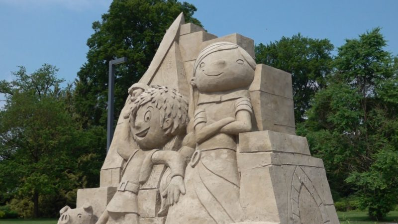 Sandskulpturen in Bad Lippspringe (Foto: SAT.1 NRW)