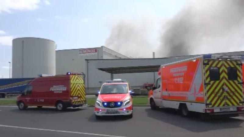 Rauch über Erftstadt (Foto: SAT.1 NRW)