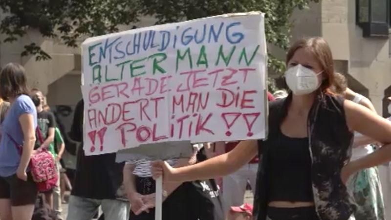 Fridays for Future: Demo und Trauer (Foto: SAT.1 NRW)