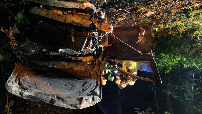 Schwerer Autounfall in Bad Salzuflen (Foto: SAT.1 NRW)