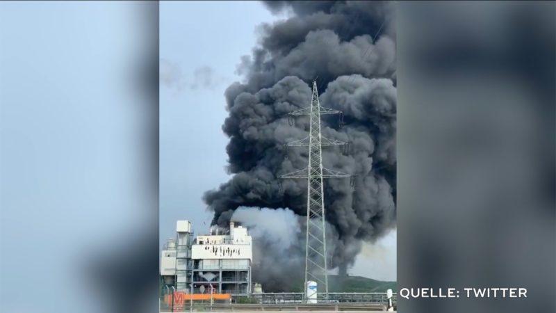 Explosion im Chempark Leverkusen (Foto: SAT.1 NRW)