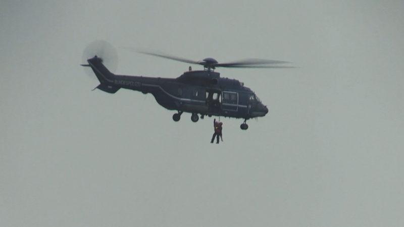 Rettung aus der Luft (Foto: SAT.1 NRW)