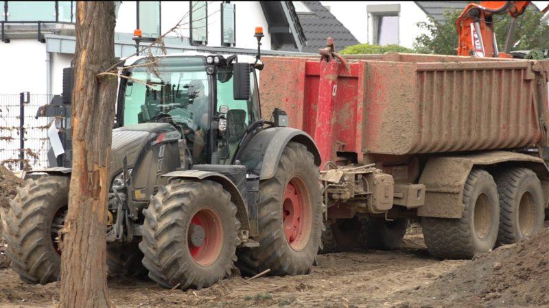 Landwirte helfen in Katastrophengebieten (Foto: SAT.1 NRW)