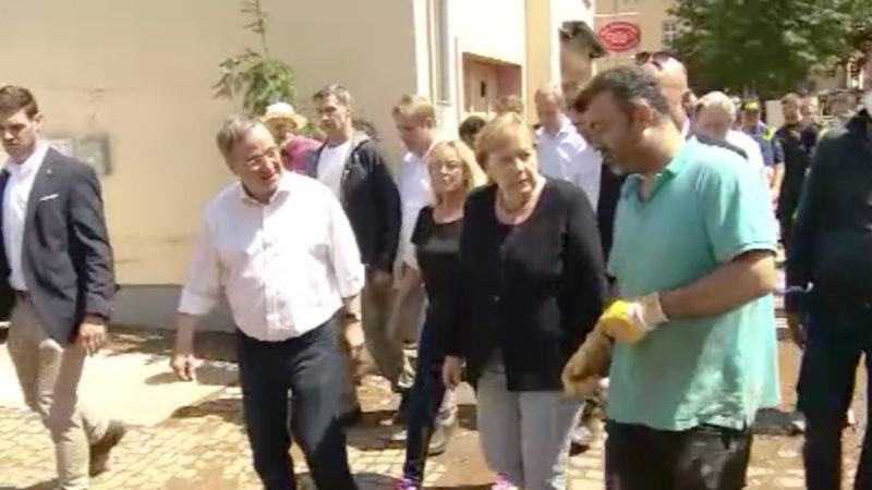 So wirkte Merkel (Foto: SAT.1 NRW)
