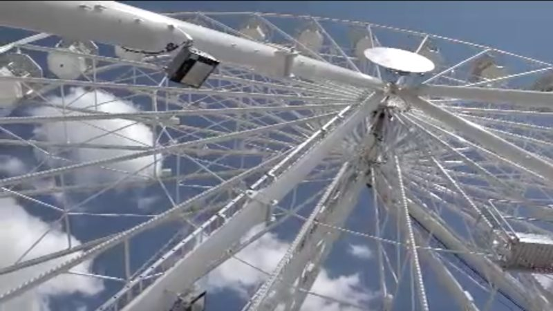 Riesenrad falsch aufgebaut (Foto: SAT.1 NRW)