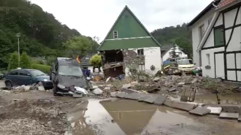Hilfe für Unwetter-Opfer (Foto: SAT.1 NRW)