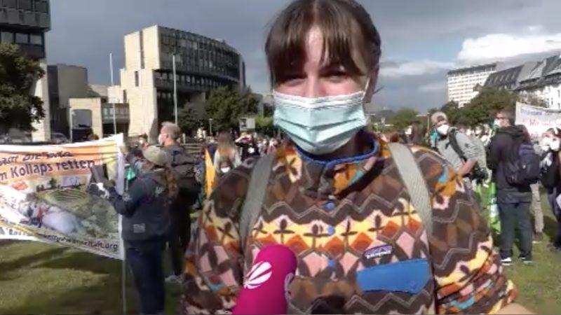 Fridays for Future demonstrieren vor Landtag (Foto: SAT.1 NRW)