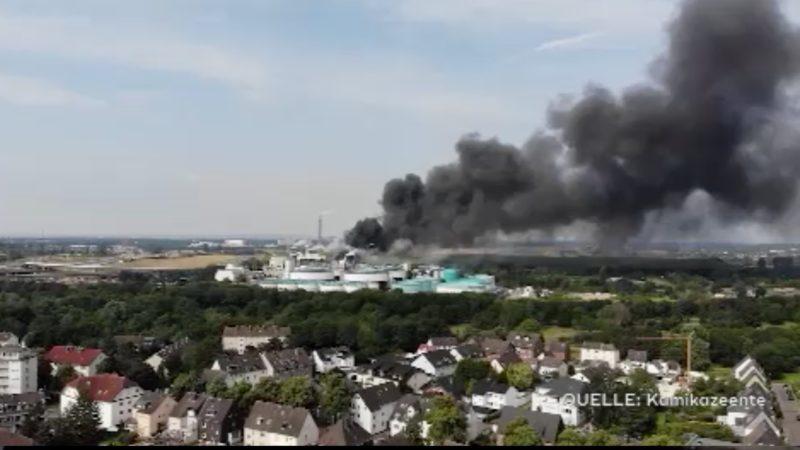 Explosionsursache in Leverkusen (Foto: SAT.1 NRW)