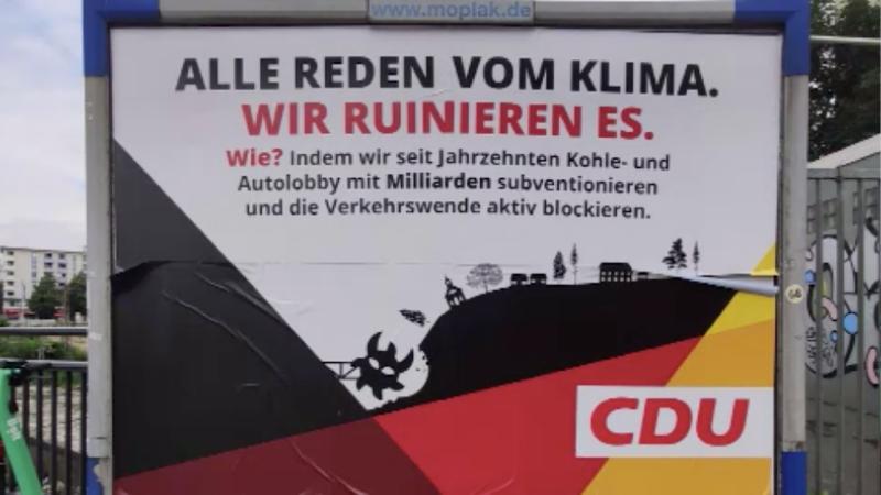 Fake-Wahlplakate in NRW (Foto: SAT.1 NRW)