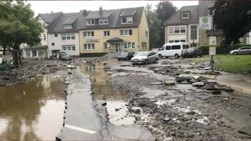 Flutopfer kommen in leerstehenden Häuser vom Tagebau Garzweiler unter (Foto: SAT.1 NRW)