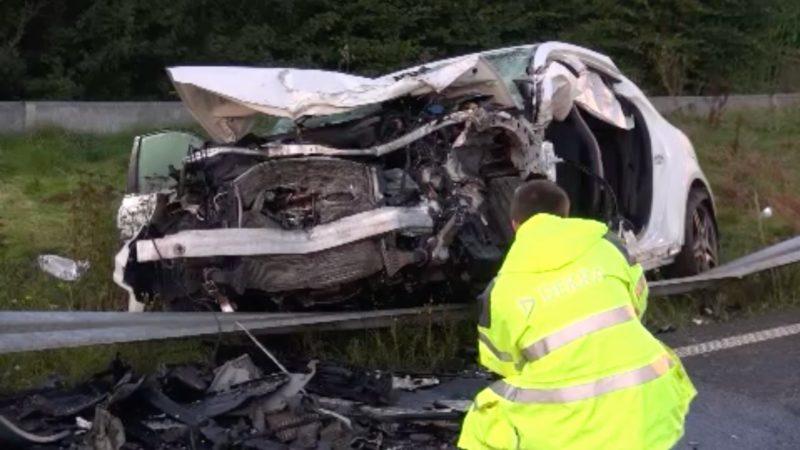 Schwerer Autounfall in Gangelt (Foto: SAT.1 NRW)