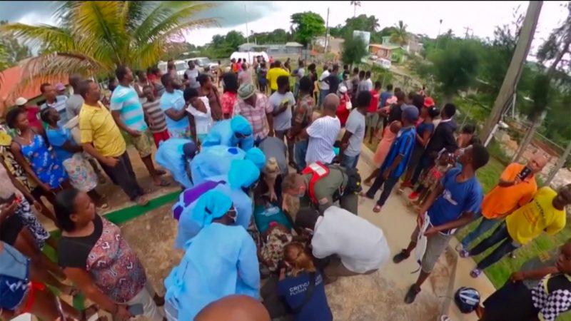 Helfer aus NRW retten Leben in Haiti (Foto: SAT.1 NRW)