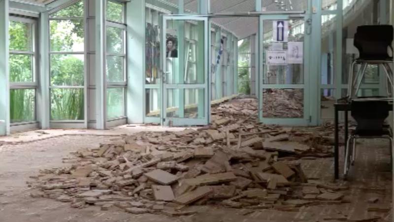 Zerstörte Schulen in Flutgebieten (Foto: SAT.1 NRW)