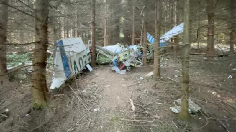 Kleinflugzeug abgestürzt im Siegerland (Foto: SAT.1 NRW)