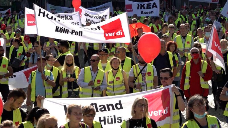Streiks im Einzelhandel (Foto: SAT.1 NRW)
