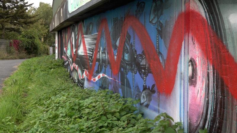 Spraykunst zerstört (Foto: SAT.1 NRW)