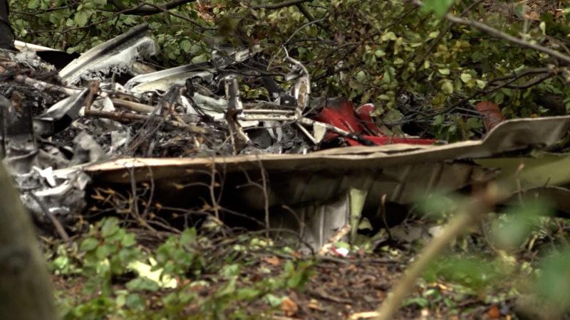 Opfer nach Flugzeugabsturz identifiziert (Foto: SAT.1 NRW)
