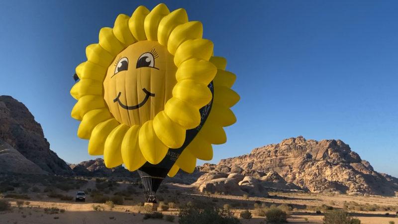Heissluftballon aus Warstein über Jordanien (Foto: SAT.1 NRW)