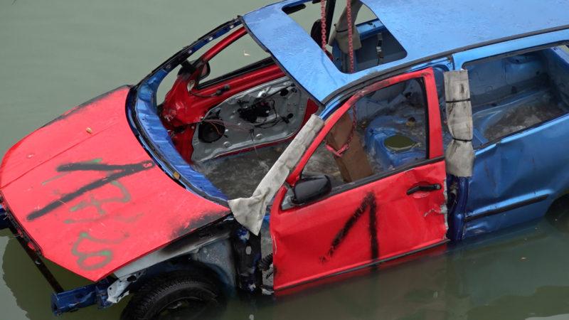 Übung einer Autobergung (Foto: SAT.1 NRW)